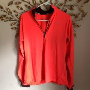 NIKE▪️Dri Fit 1/2 Zip Front Neon Orange Jacket. M